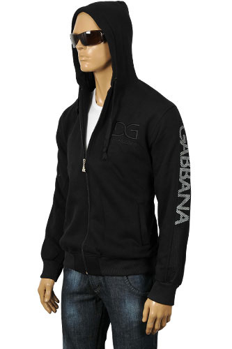 Mens Designer Clothes | DOLCE & GABBANA Men's Cotton Hooded Jacket #349