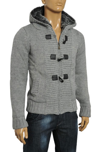 Mens Designer Clothes | DOLCE & GABBANA Men's Knite Hooded Warm Jacket #350
