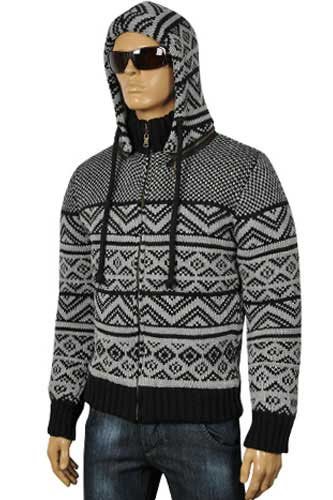 Mens Designer Clothes | DOLCE & GABBANA Men's Knit Hooded Warm Jacket #358