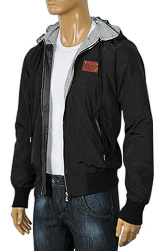 Mens Designer Clothes | DOLCE & GABBANA Men's Zip Up Hooded Jacket #361