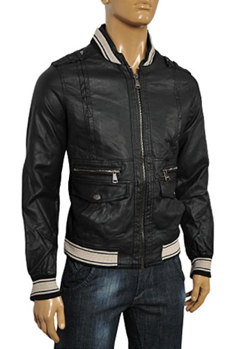 Mens Designer Clothes | DOLCE & GABBANA Men's Artificial Leather Jacket #375
