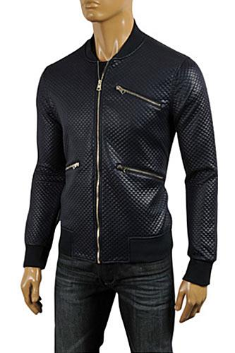 Mens Designer Clothes | DOLCE & GABBANA Men's Artificial Leather Jacket #409