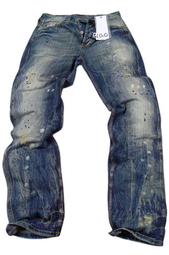 Mens Designer Clothes | DOLCE & GABBANA Mens Washed Jeans #152