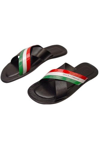 Dolce & Gabbana Leather Flip Flops onoryZE9G
