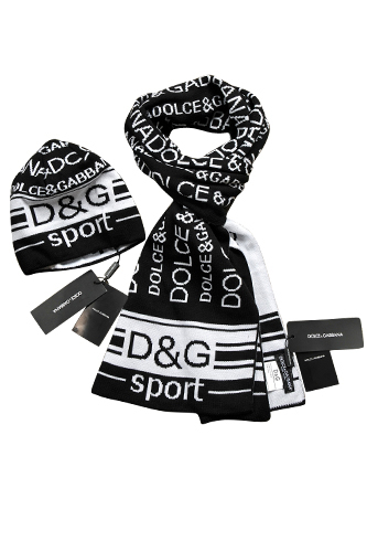 Mens Designer Clothes | DOLCE & GABBANA Men's Hat/Scarf Set #104