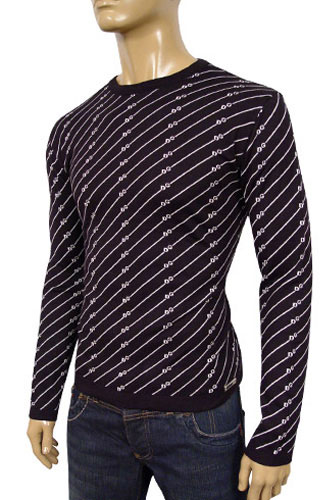 Mens Designer Clothes | DOLCE & GABBANA Mens Round Neck Fitted Sweater #163