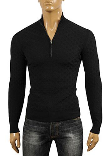 Mens Designer Clothes | DOLCE & GABBANA Men's Knit Zip Sweater #227