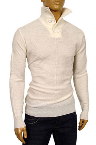 Mens Designer Clothes | Dolce & Gabbana High Collar Fitted Sweater #158