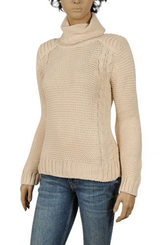 Womens Designer Clothes | DOLCE & GABBANA Ladies Turtle Neck Knitted Sweater #195