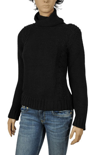 Womens Designer Clothes | DOLCE & GABBANA Ladies Turtle Neck Knitted Sweater #196
