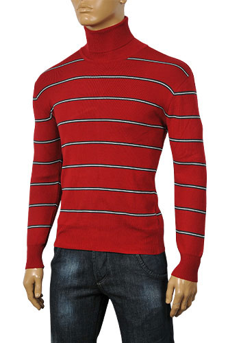 Mens Designer Clothes | DOLCE & GABBANA Men's Turtle Neck Fitted Sweater #198