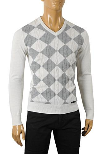 Mens Designer Clothes | DOLCE & GABBANA Men's Knit Fitted Sweater #223
