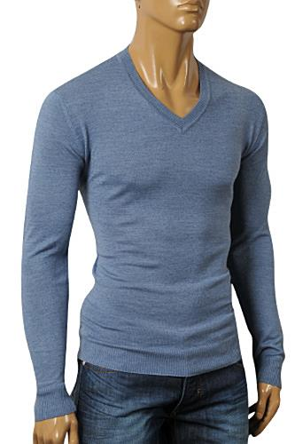 Mens Designer Clothes | DOLCE & GABBANA Men's V-Neck Knit Fitted Sweater #230