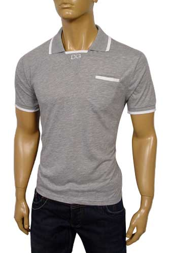 Mens Designer Clothes | DOLCE & GABBANA Men's Cotton Polo Shirt #308