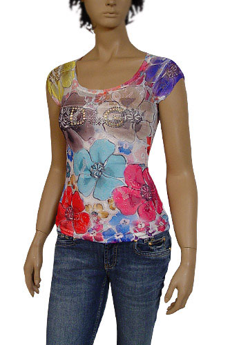 Womens Designer Clothes | DOLCE & GABBANA Ladies Short Sleeve Top #128