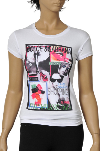 Womens Designer Clothes | DOLCE & GABBANA Ladies Short Sleeve Top #178