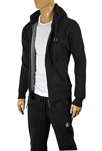 Mens Designer Clothes | DOLCE & GABBANA Men's Zip Up Hooded Tracksuit #418