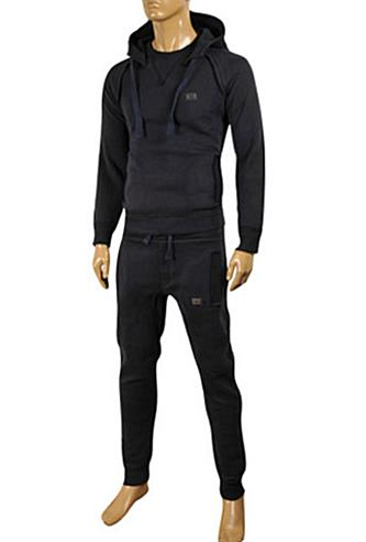 Mens Designer Clothes | DOLCE & GABBANA Men's Tracksuit In Navy Blue #421
