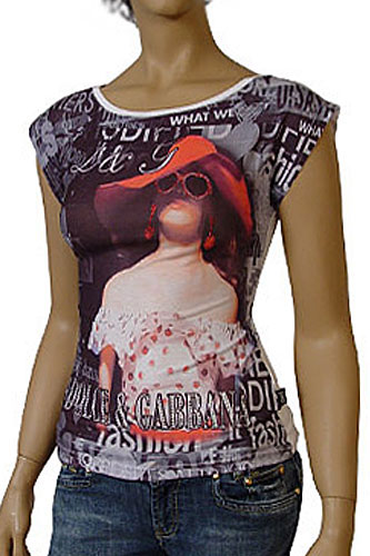 Womens Designer Clothes | DOLCE & GABBANA Ladies Short Sleeve Top #130