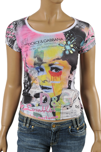 Womens Designer Clothes | DOLCE & GABBANA Ladies Short Sleeve Tee #203