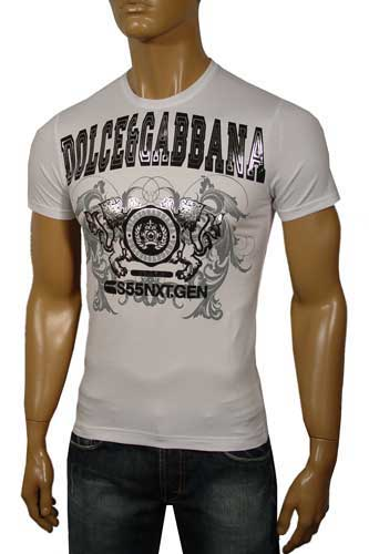 Mens Designer Clothes | DOLCE & GABBANA Round Neck Short Sleeve Tee #59