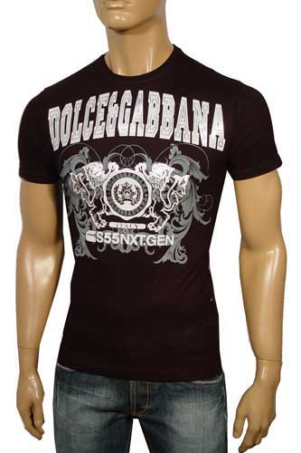 Mens Designer Clothes | DOLCE & GABBANA Round Neck Short Sleeve Tee #60