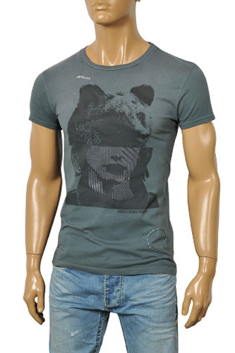 Mens Designer Clothes | DIESEL Men's Short Sleeve Tee #3