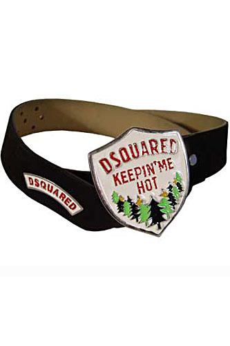 Mens Designer Clothes | DSQUARED Men's Leather Belt #16
