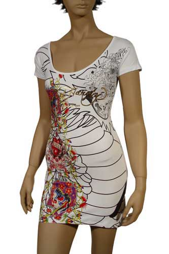 Womens Designer Clothes | Ed Hardy by Christian Audigier Lady's Short Sleeve Dress #12