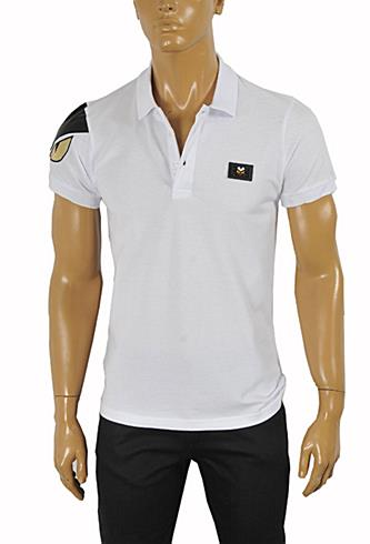 Mens Designer Clothes | FENDI Men's Polo Shirt In White #22