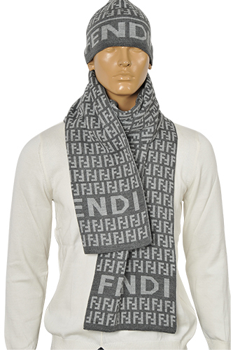 mens designer clothes fendi s hat scarf set 106