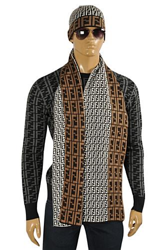 mens designer clothes fendi s hat scarf set 126