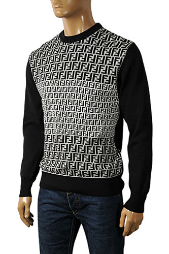 Mens Designer Clothes | Fendi Men's Round Neck Sweater #8