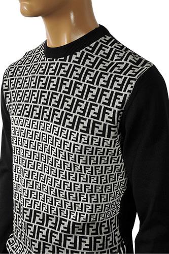 Mens Designer Clothes | Fendi Men's Round Neck Sweater #8 View 3
