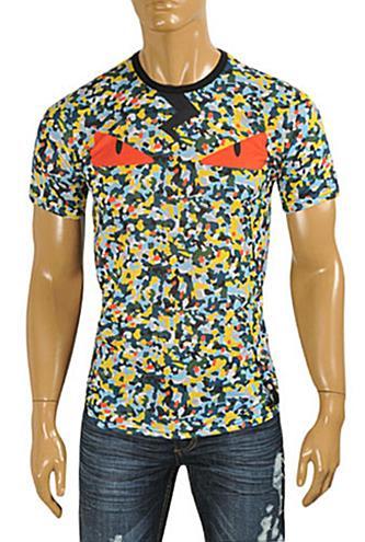 Mens Designer Clothes   FENDI Men's T-Shirt Black #16