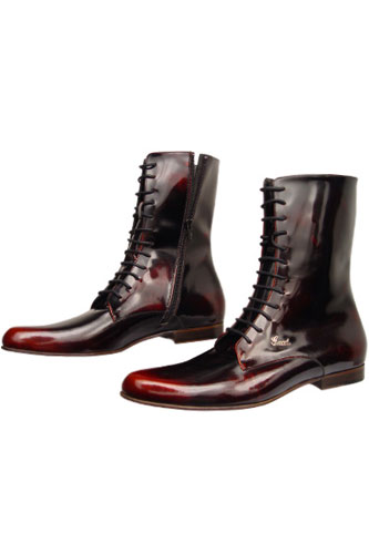Designer Clothes Shoes | GUCCI High Leather Boots For Men #162