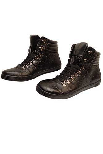 Designer Clothes Shoes | GUCCI High Leather Boots for Men #199