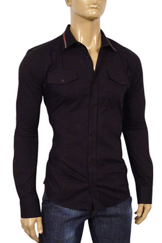Mens Designer Clothes | GUCCI Mens Dress Fitted Shirt #133