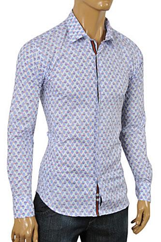 Mens Designer Clothes | GUCCI Men's Button Front Dress Shirt #318