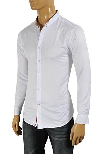 Mens Designer Clothes | GUCCI Men's Button Front Dress Shirt #325