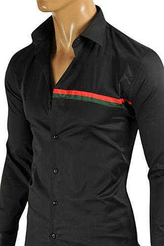 Mens Designer Clothes | GUCCI Men's Button Down Dress Shirt #333