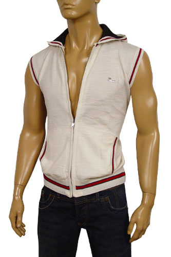 Designer Clothes | GUCCI Mens Sleeveless Hoodie/Sweater #17