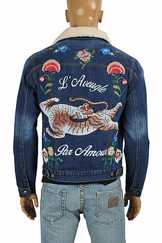 Mens Designer Clothes | GUCCI men's embroidered bomber jacket #158