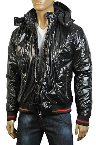 Mens Designer Clothes | GUCCI Mens Warm Hooded Jacket #77