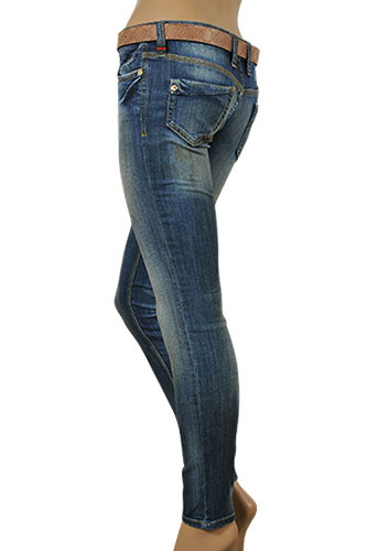Womens Designer Clothes | GUCCI Ladies Skinny Fit Jeans With Belt #64