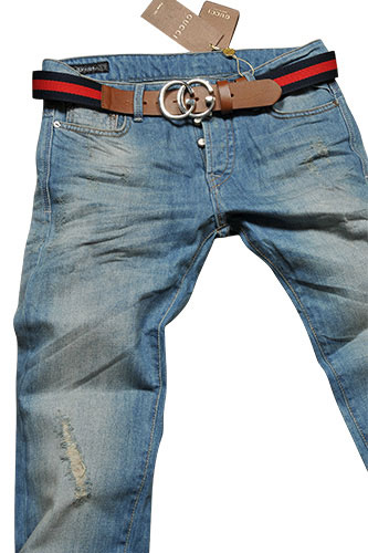 Mens Designer Clothes | GUCCI Menu0026#39;s Jeans With Belt #77