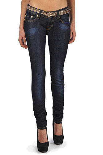 Womens Designer Clothes | GUCCI Ladies' Skinny Fit Jeans With Belt #84