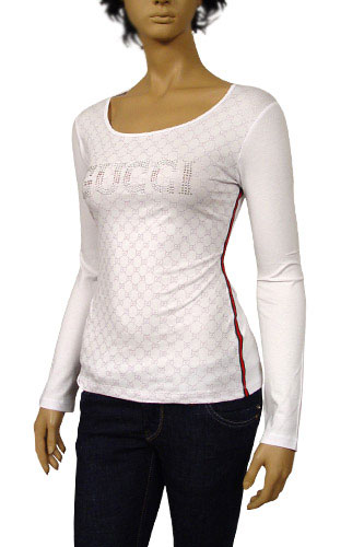 Womens Designer Clothes | GUCCI Ladies Long Sleeve Top #124