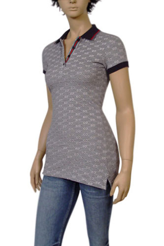 Womens Designer Clothes | GUCCI Ladies Long Polo Shirt #150