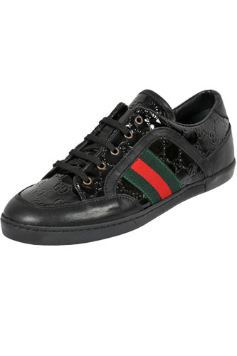 Designer Clothes Shoes | GUCCI Men's Leather Sneakers Shoes #225